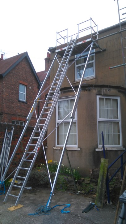 tower scaffold for easy access terrace, detached, flat, roof, Garage, roof, roofer, roofing, slate, tile, scarborough, eastfield, newby, osgodby, scalby, burinston, seamer, filey,